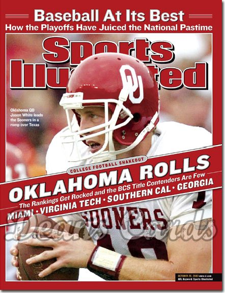 2003 Sports Illustrated   October 20  -  Jason White Oklahoma Sooners