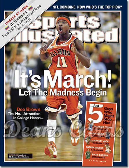 2005 Sports Illustrated   March 7  -  Dee Brown Illinois Basketball