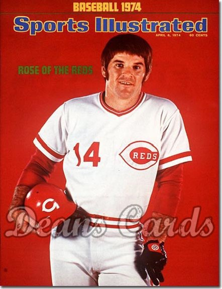 1974 Sports Illustrated - With Label   April 8  -  Pete Rose (Cincinnati Reds)