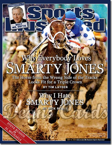 2004 Sports Illustrated   May 10  -  Smarty Jones George Steinbrenner Inset