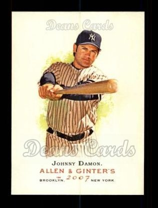 2007 Topps Allen & Ginter #246  Johnny Damon