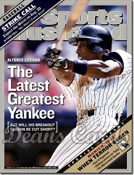 2002 Sports Illustrated   August 26  -  Alfonso Soriano NY