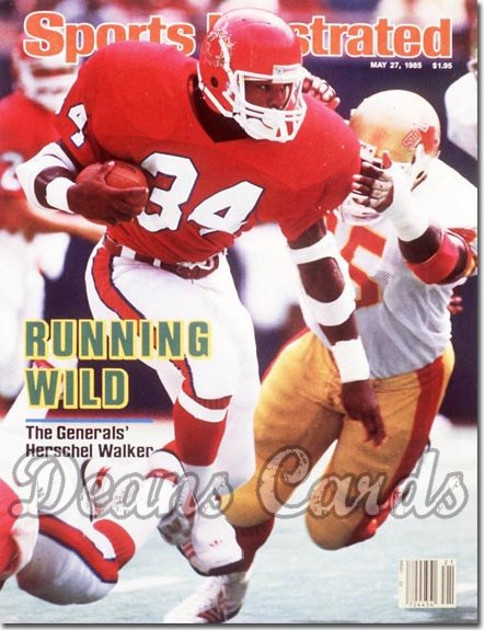 1985 Sports Illustrated - With Label   May 27  -  Herschel Walker (New Jersey Generals)