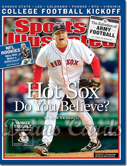 2004 Sports Illustrated - With Label   September 13  -  Curt Schilling Boston Red Sox
