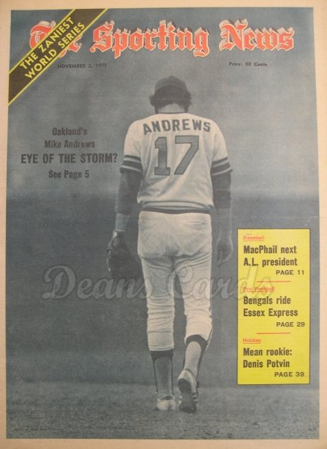1973 The Sporting News   November 3  - Mike Andrews World Series coverage