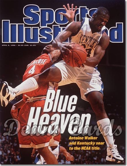 1996 Sports Illustrated - With Label   April 8  -  Antoine Walker (Kentucky Wildcats)