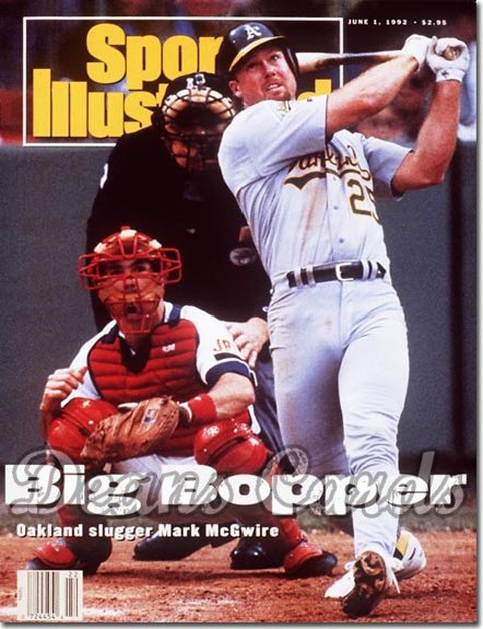 1992 Sports Illustrated - With Label   June 1  -  Mark McGwire (Oakland A's)