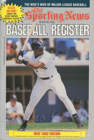 1992 Baseball Register   -  Frank Thomas  Issue