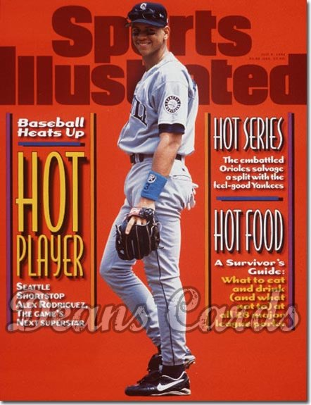 1996 Sports Illustrated - With Label   July 8  -  Alex Rodriguez Seattle Mariners