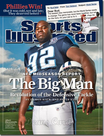 2008 Sports Illustrated - With Label   November 10  -  Albert Haynesworth (Titans)