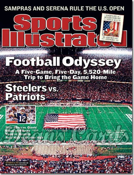 2002 Sports Illustrated   September 16  -  Football Odyssey 9/11 One Year Later Giants Stadium
