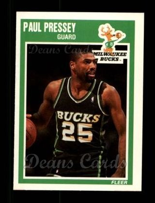 1989 Fleer #89  Paul Pressey