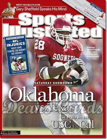 2004 Sports Illustrated   October 11  -  Adrian Peterson Oklahoma Vs Texas