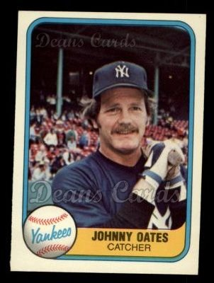 1981 Fleer #99  Johnny Oates