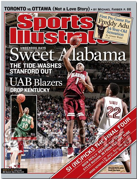 2004 Sports Illustrated   March 29  -  Chuck Davis Alabama Mo Finley UAB