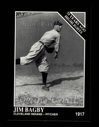 1992 Conlon #487   -  Jim Bagby Sr. 1917 Highlights
