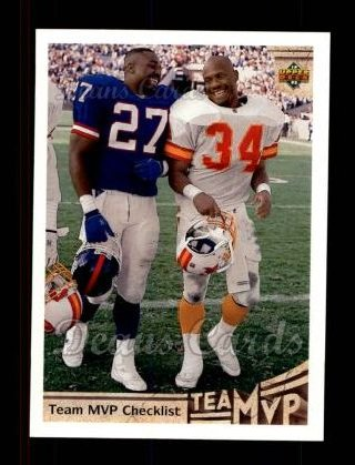 1992 Upper Deck #350  Rodney Hampton / Reggie Cobb