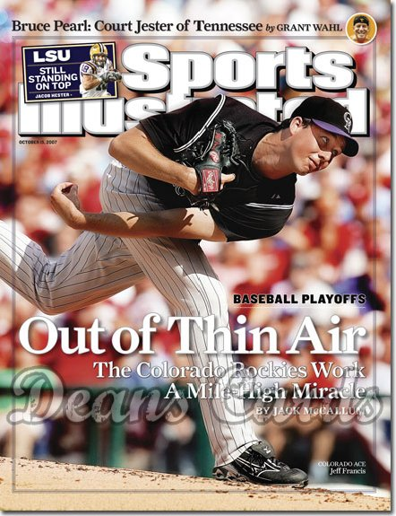 2007 Sports Illustrated   October 15  -  Jeff Francis