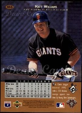 1996 Upper Deck #455  Matt Williams