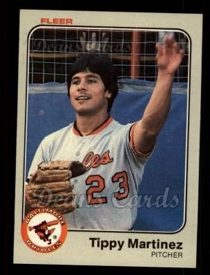1983 Fleer #65  Tippy Martinez