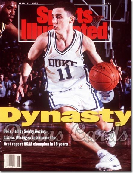 1992 Sports Illustrated - With Label   April 13  -  Bobby Hurley (Duke Blue Devils)