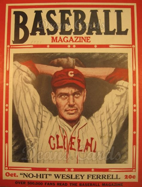 1931 Baseball Magazine    October