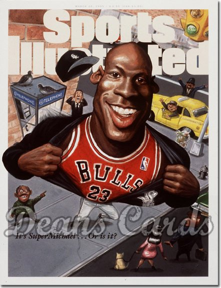 1995 Sports Illustrated - No Label   March 20  -  Michael Jordan (Chicago Bulls)