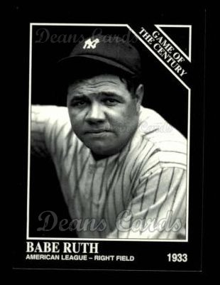 1993 Conlon #663   -  Babe Ruth 1933 All-Star Game