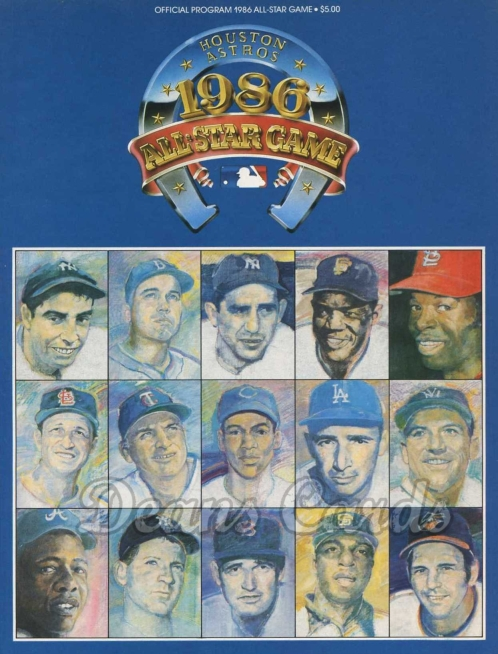 1986 Houston All-Star Game Program