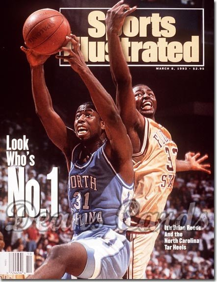 1993 Sports Illustrated - With Label   March 8  -  Brian Reese (UNC Tar Heels) Douglas Edwards (Florida)