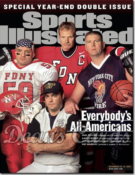 2001 Sports Illustrated   December 24  -  NY Fire Fighters (FDNY)