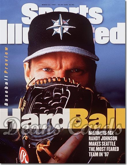 1997 Sports Illustrated - No Label   March 31  -  Randy Johnson (Seattle Mariners) Baseball Preview Issue