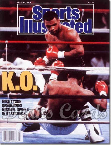 1988 Sports Illustrated - With Label   July 4  -  Mike Tyson/Michael Spinks