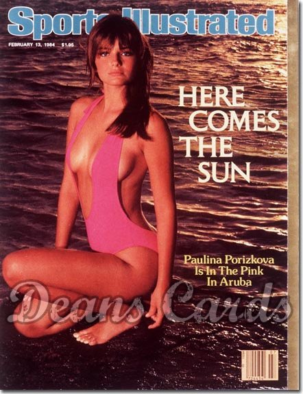 1984 Sports Illustrated - With Label   February 13  -  Paulina Porizkova Swimsuit Issue
