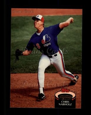 1992 Topps Stadium Club #318  Chris Nabholz