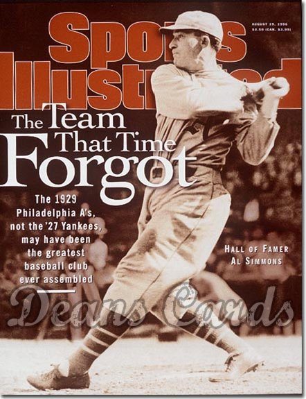 1996 Sports Illustrated - With Label   August 19  -  Al Simmons (Philadelphia A's)