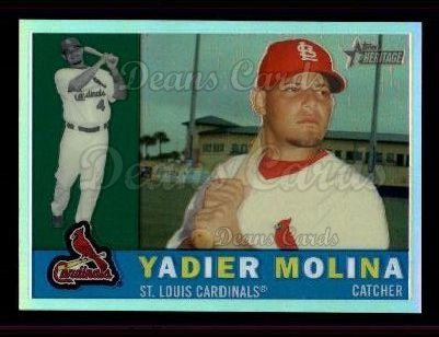 2009 Topps Heritage Chrome Refractor #64 CHR Yadier Molina
