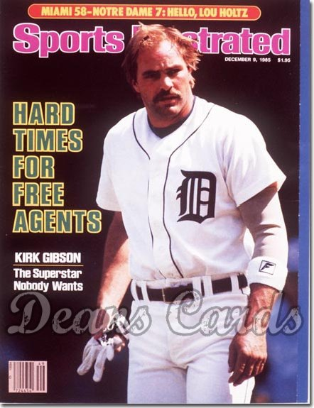 1985 Sports Illustrated   December 9  -  Kirk Gibson (Detroit Tigers)