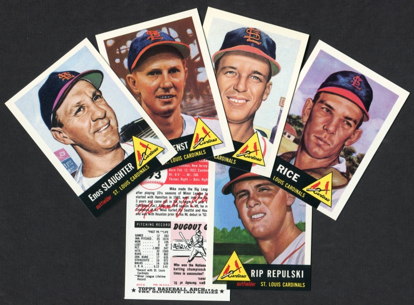 1953 Topps Archives     REPRINT St. Louis Cardinals Team Set