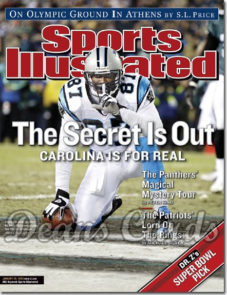 2004 Sports Illustrated   January 26  -  Muhsin Muhammad Carolina Panthers