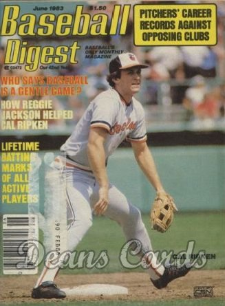 1983 Baseball Digest   -  Cal ripken  June