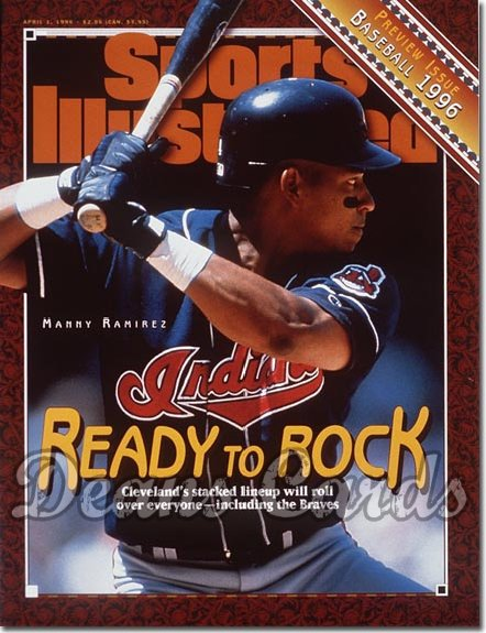 1996 Sports Illustrated - With Label   April 1  -  Manny Ramirez (Cleveland) (Baseball Issue)