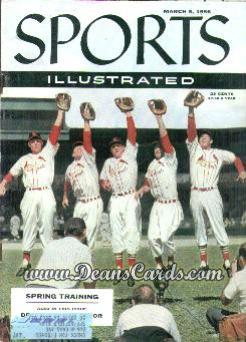 1956 Sports Illustrated - With Label   March 5  -  Stan Musial Wally Moon Repulski Virdon