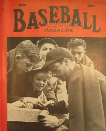 1940 Baseball Magazine    October