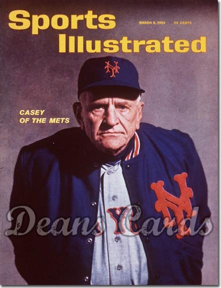 1962 Sports Illustrated - With Label   March 5  -  Casey Stengel New York Mets