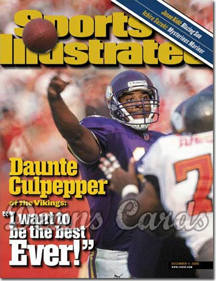 2000 Sports Illustrated   December 4  -  Duante Culpepper (Minnesota Vikings)