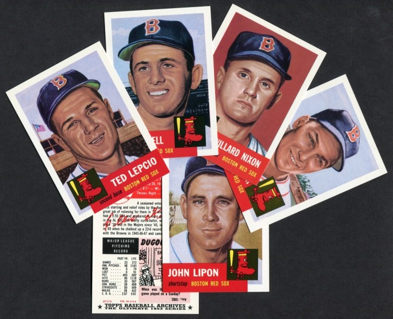 1953 Topps Archives     REPRINT Boston Red Sox Team Set
