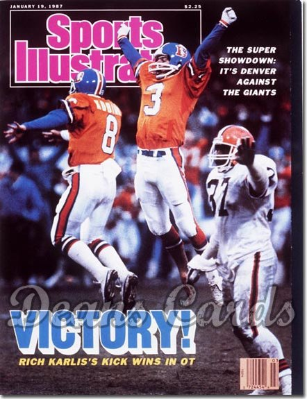 1987 Sports Illustrated - With Label   January 19  -  Rich Karlis (Denver Broncos)