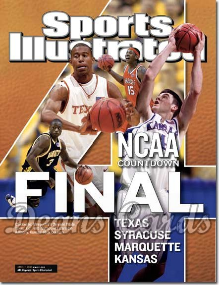2003 Sports Illustrated - With Label   April 7  -  Carmelo Anthony (Syracuse Orangemen) (Regional Issue)