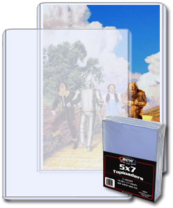 Topload Card Holder 5 x 7-Pack of 25